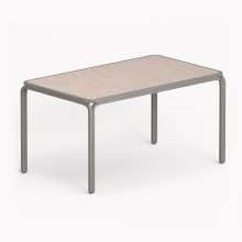 Model M Table, Metallic Grey