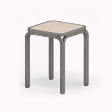 Model M Stool, Metallic Grey