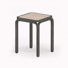 Model M Stool, Raw Steel