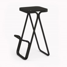 Model X High stool, Matte Black