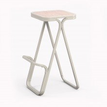 Model X High stool, Matte White