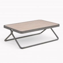 Model X Low table, Raw Steel