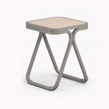 Model X Stool, Metallic Grey