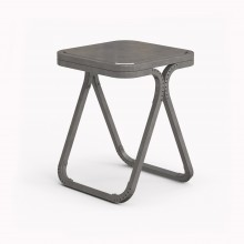 Model X Stool, Raw Steel