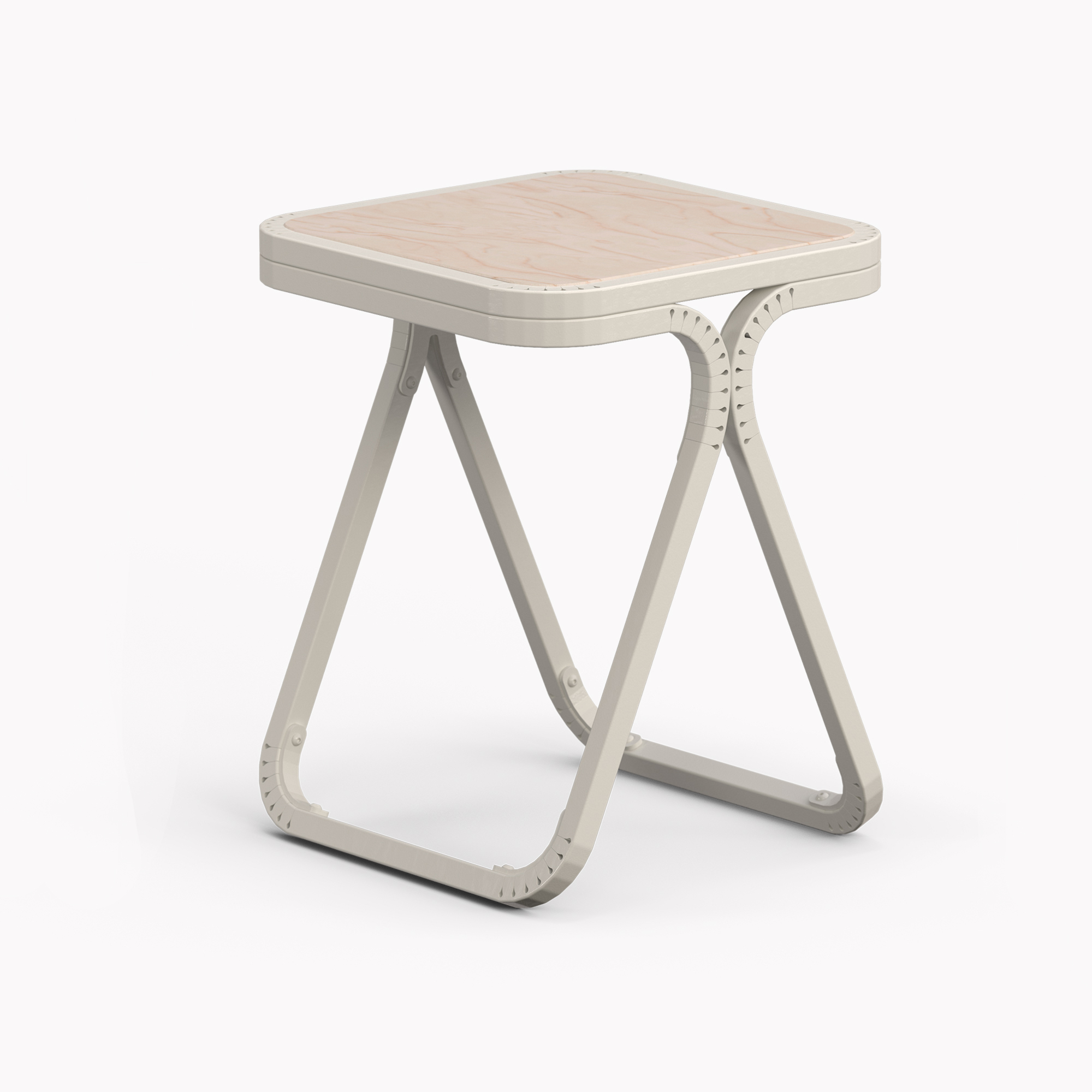 Amazing photo of Model X Stool White Wood HandBend with #726159 color and 2000x2000 pixels