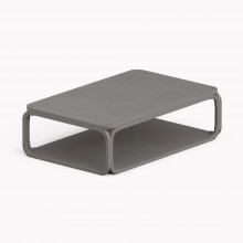 Model O Low table, Metallic Grey