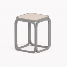 Model O Stool, Metallic Grey