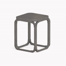 Model O Stool, Raw Steel